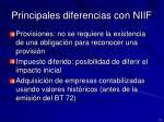 principales diferencias con niif4