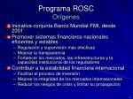 programa rosc or genes