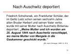 nach auschwitz deportiert