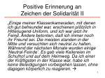positive erinnerung an zeichen der solidarit t ii