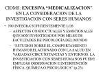 cioms excesiva medicalizacion en la consideracion de la investigacion con seres humanos