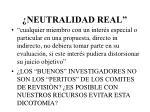 neutralidad real