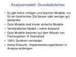 analysemodell grunds tzliches