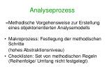 analyseprozess