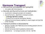 hormone transport