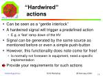 hardwired actions