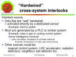 hardwired cross system interlocks2