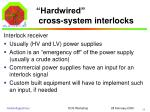 hardwired cross system interlocks3