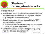 hardwired cross system interlocks4