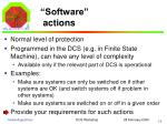 software actions
