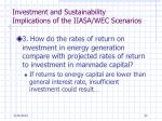 investment and sustainability implications of the iiasa wec scenarios