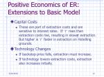 positive economics of er extensions to basic model1