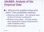 sauner analysis of the empirical data