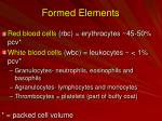 formed elements