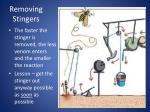 removing stingers