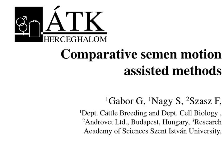 comparative semen motion assisted methods n.