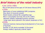 brief history of the retail industry