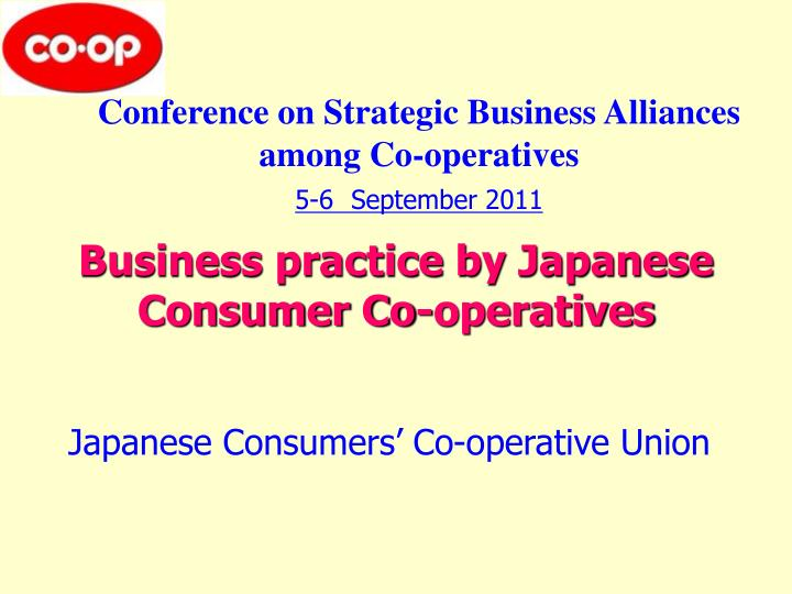 business practice by japanese consumer co operatives n.