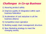 challenges in co op business