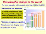 demographic change in the world
