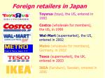 foreign retailers in japan