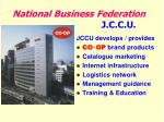 national business federation j c c u