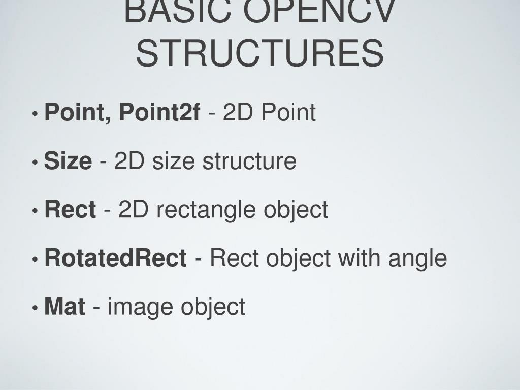 PPT - Introduction to OpenCV PowerPoint Presentation - ID:792349