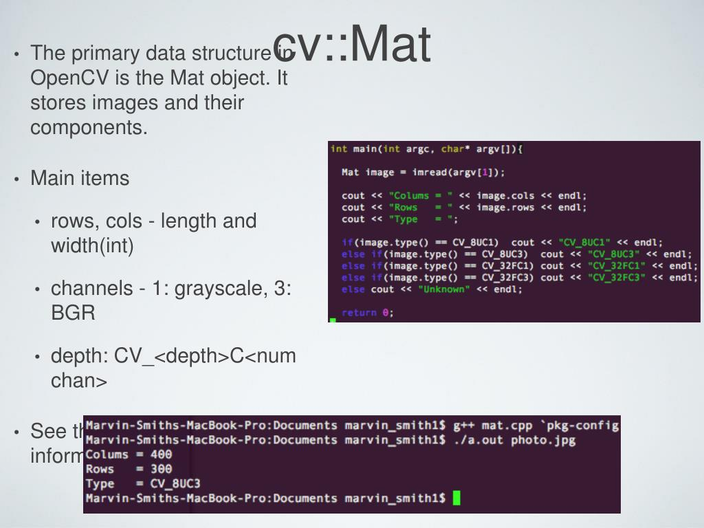 PPT - Introduction to OpenCV PowerPoint Presentation, free