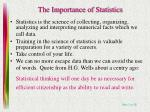 the importance of statistics