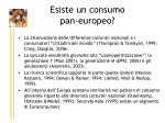 esiste un consumo pan europeo