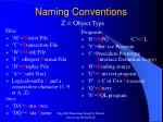naming conventions1