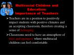 multiracial children and education importance of teachers