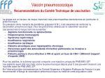 vaccin pneumococcique recommandations du comit technique de vaccination