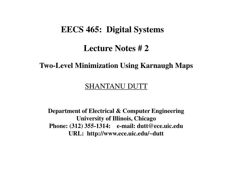eecs 465 digital systems n.