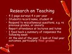 research on teaching