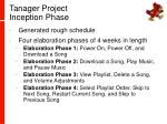 tanager project inception phase3