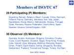 members of iso tc 67