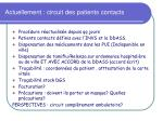 actuellement circuit des patients contacts