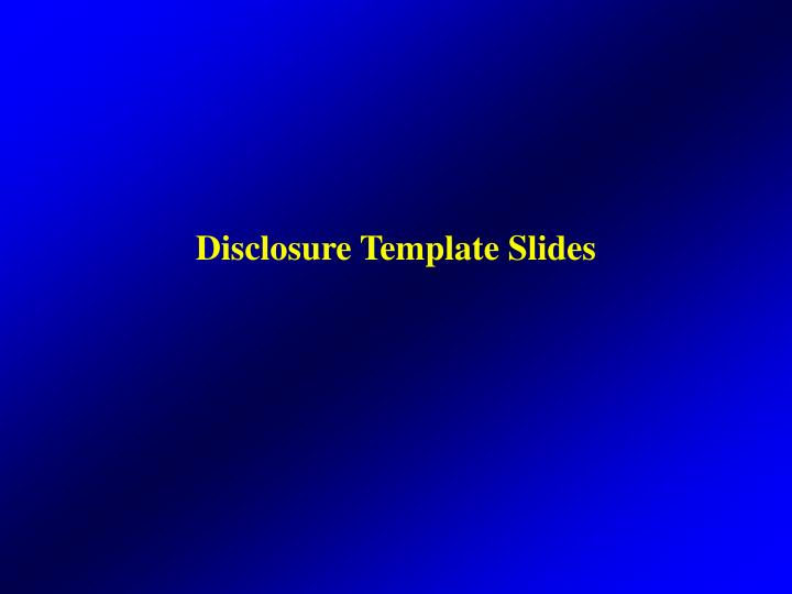 disclosure template slides n.