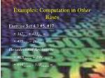 examples computation in other bases