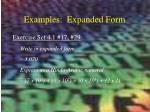 examples expanded form