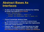 abstract bases as interfaces