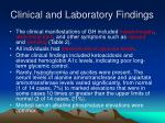 clinical and laboratory findings