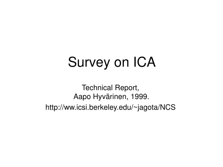 survey on ica n.