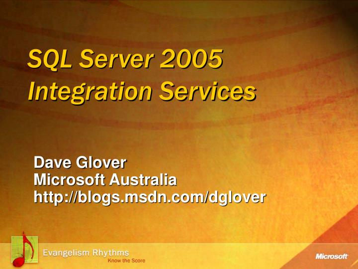 sql server 2005 integration services n.