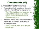 constraints 4