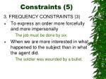 constraints 5