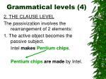 grammatical levels 4