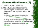grammatical levels 5
