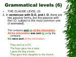 grammatical levels 6